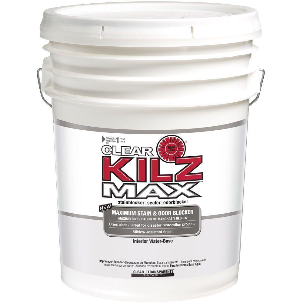 Kilz Max Clear 5 Gal Water Based Interior Primer Sealer