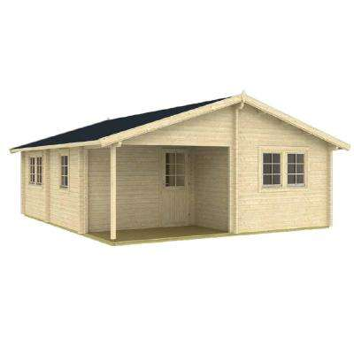24.25 ft. D x 20.08 ft. W Wood Log Hobby Workshop Office Extra Space Storage Building