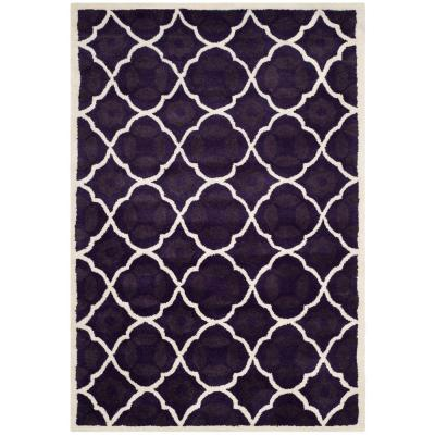 Safavieh Chatham Purple Ivory 4 Ft X 6 Ft Area Rug Cht720f 4 The Home Depot