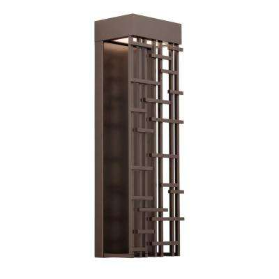 Pier 60 Large 1-Light Bronze Outdoor Integrated LED Wall Mount Sconce