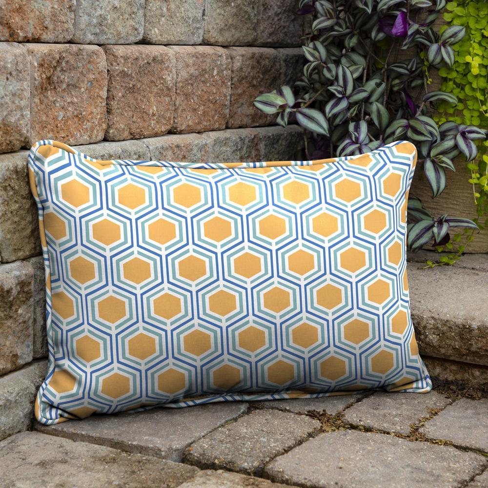 Honeycomb Outdoor Lumbar Pillow (2-Pack)