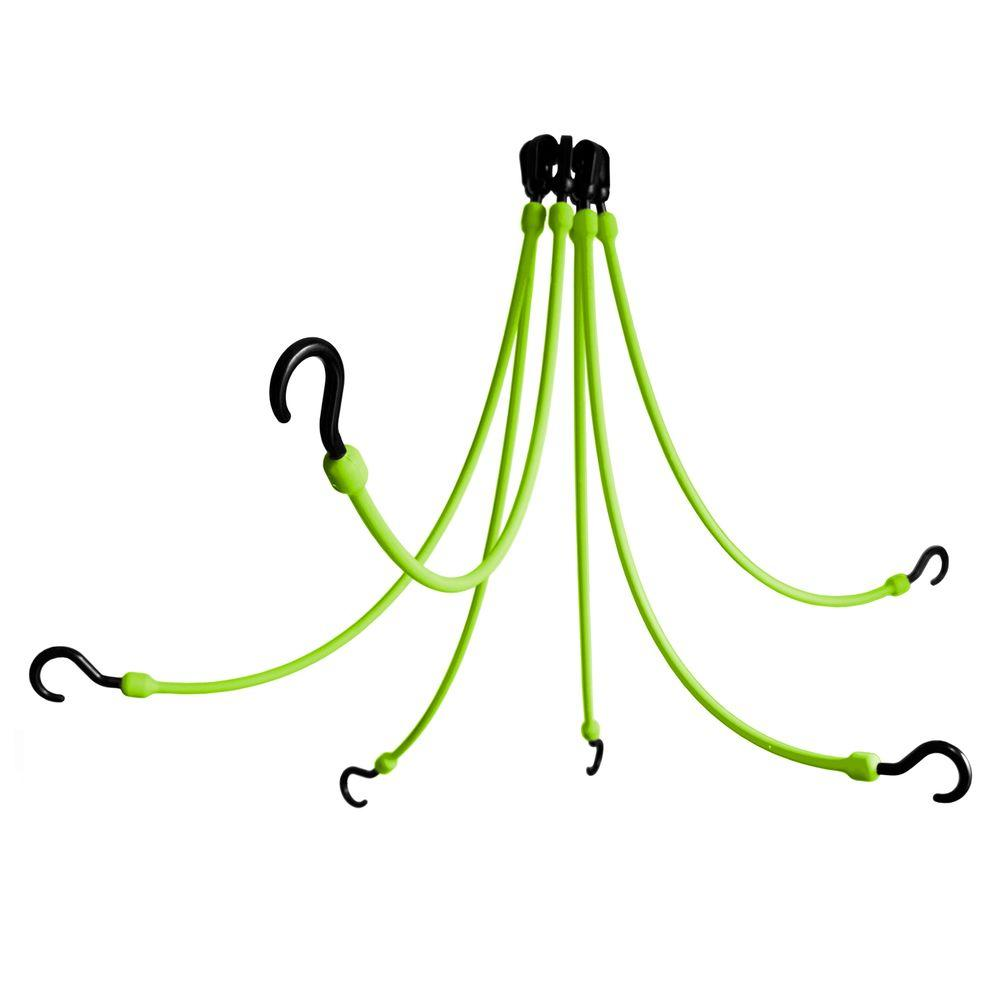 The Perfect Bungee 24 in. Polyurethane Flex Web with Six Arms in Safety Green
