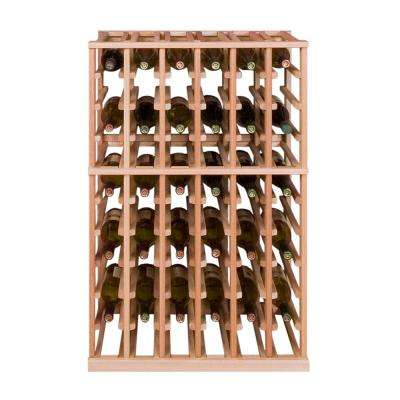 60-Bottle Pine Floor Wine Rack