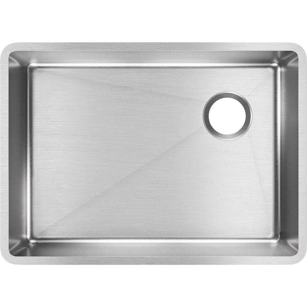 Crosstown Undermount Stainless Steel 26 in. Single Bowl Kitchen Sink