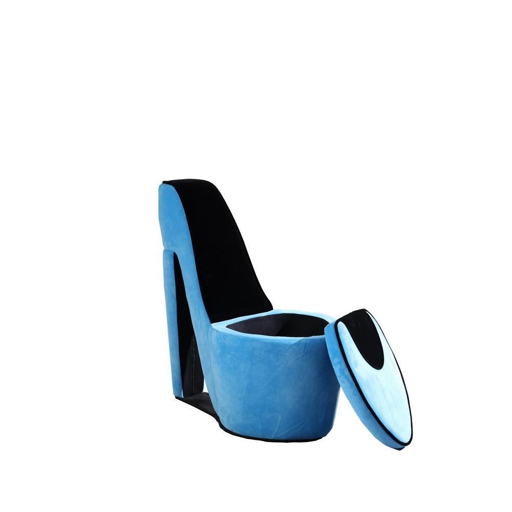32 86 In Azure Blue High Heel Storage
