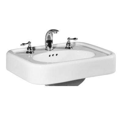 Liberty 25 in. Pedestal Sink Basin in White