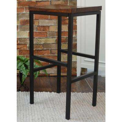 Aileen 30 in. Black and Chestnut Bar Stool