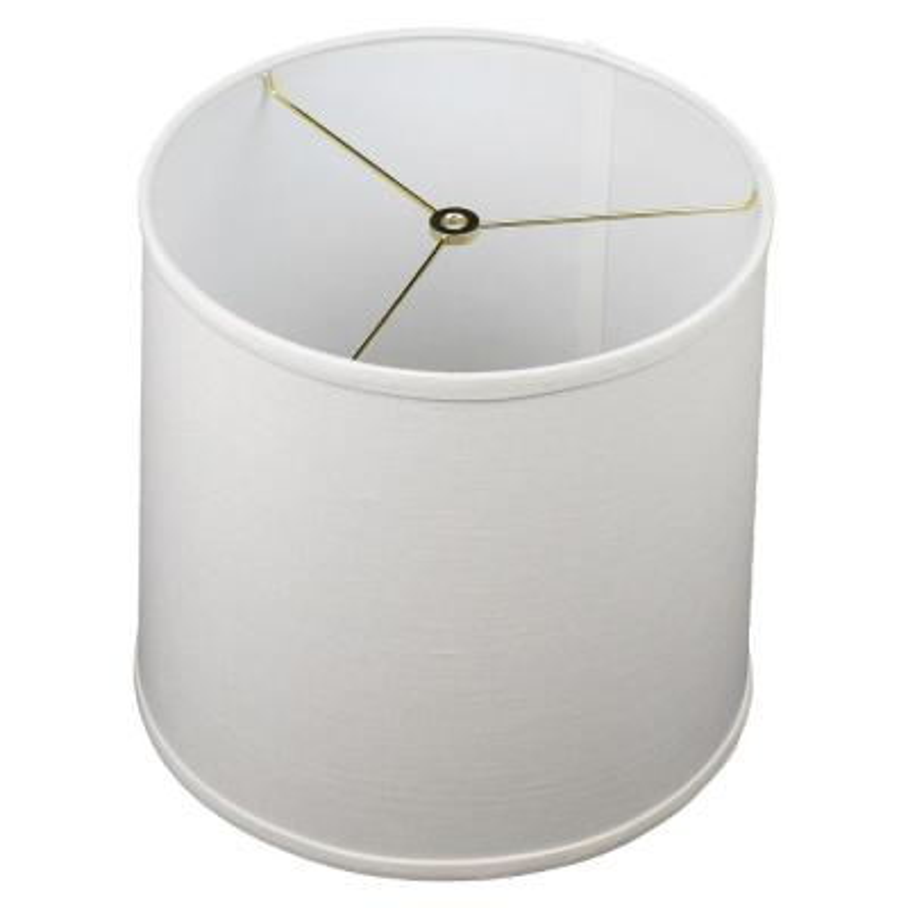 12 in. Top Diameter x 13 in. Bottom Diameter x 12 in. Slant Designer Linen Off White Empire Lamp Shade