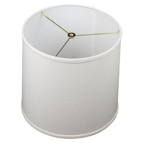 12 in. Top Diameter x 13 in. Bottom Diameter x 12 in. Slant Designer Linen Off White Empire Lamp Shade