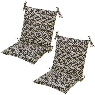 Geometric Attached Ties Outdoor Chair Cushions Outdoor