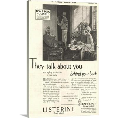 """""""Listerine Antiseptic Advertisement"""" by Advertising Archives Wall Art"""