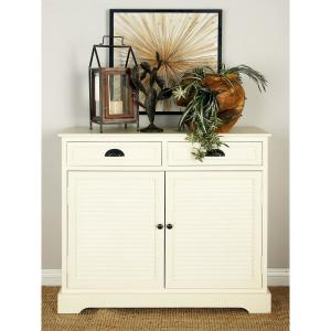 New Traditional Cream White Wooden Cabinet