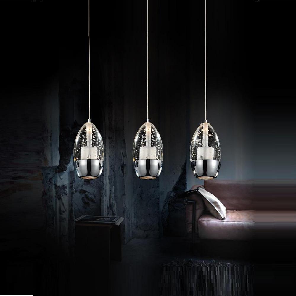 Perrier 3-Light Chrome Chandelier
