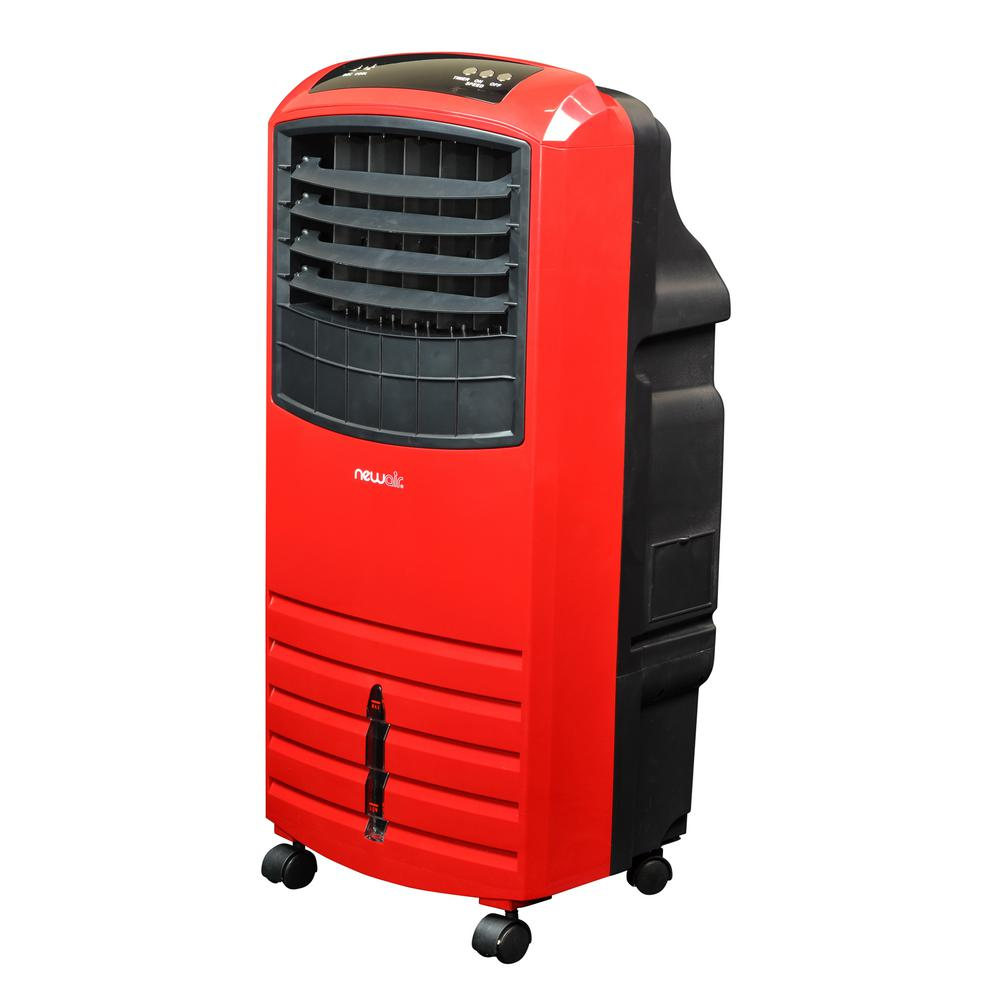 At Home Depot Evaporative Coolers : Newair cfm speed red portable evaporative cooler