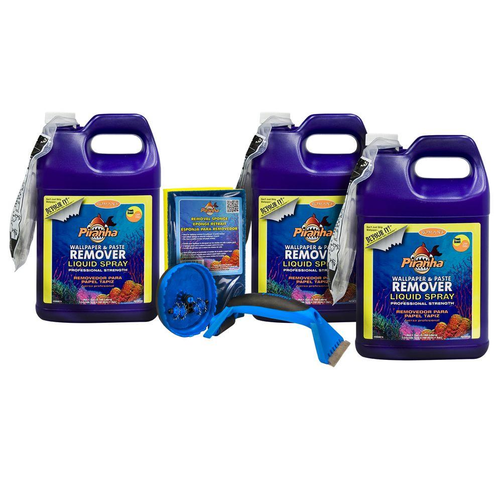 3 gal. Piranha Liquid Spray Wallpaper Removal Kit for Large Sized