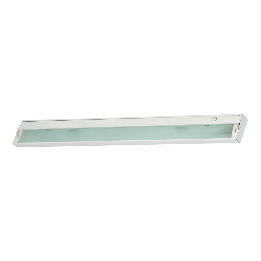 Titan Lighting 6-Lamp White Under Cabinet Light with Diffused Glass