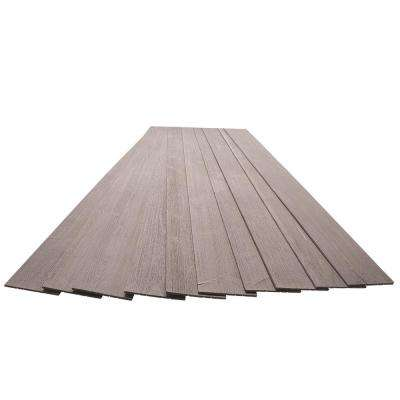 3/16 in. x 5-1/8 in. x 46-1/2 in. Driftwood Grey Rustic Pine Wood Plank Self-Adhesive (10-Pack)