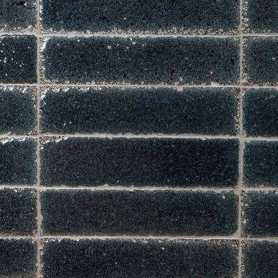 Magma Stone Black Brick 3 in. x 12 in. 19mm Glazed Subway Tile (4.11 sq. ft. / box, 17 pieces per set)
