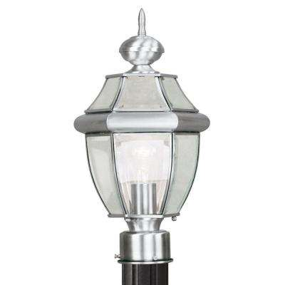 Providence 1-Light Outdoor Brushed Nickel Incandescent Post Lantern