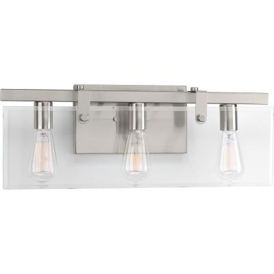 Glayse Collection 3-Light Brushed Nickel Bath Light