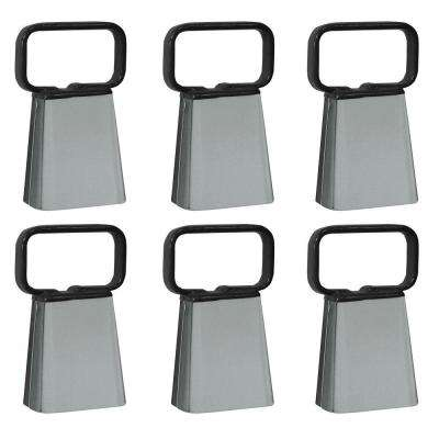 Customizable Cowbell with Easy Grip Handle (6-Pack)