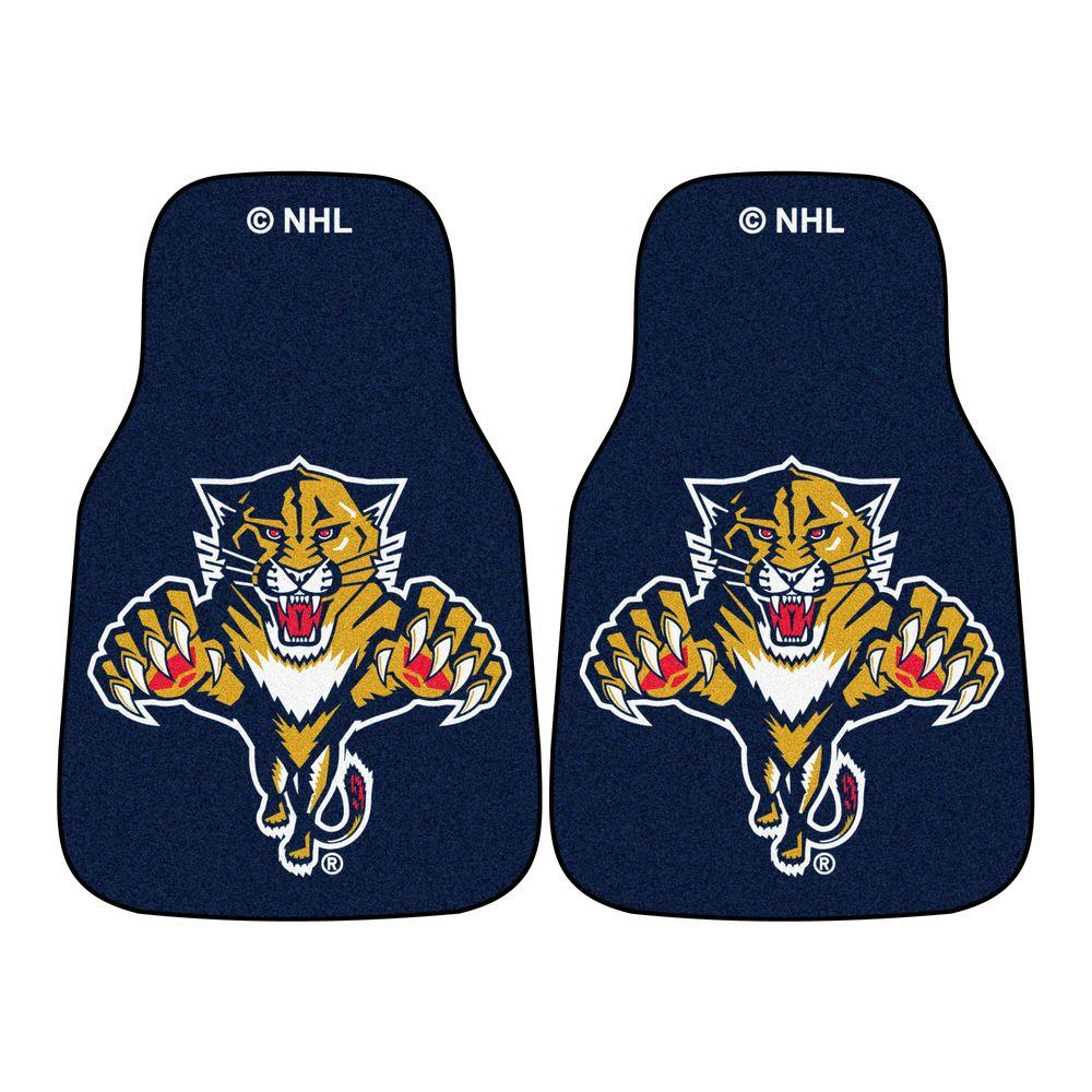 Florida Panthers 18 in. x 27 in. 2-Piece Carpeted Car Mat