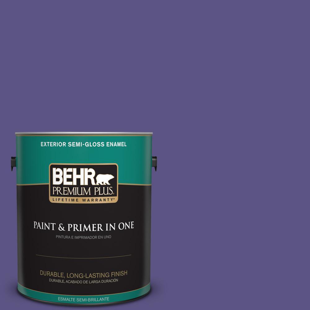 1 gal. #PPU16-01 Aurora Splendor Semi-Gloss Enamel Exterior Paint
