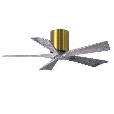 Irene 42 in. Indoor/Outdoor Brushed Brass Ceiling Fan With Remote Control And Wall Control