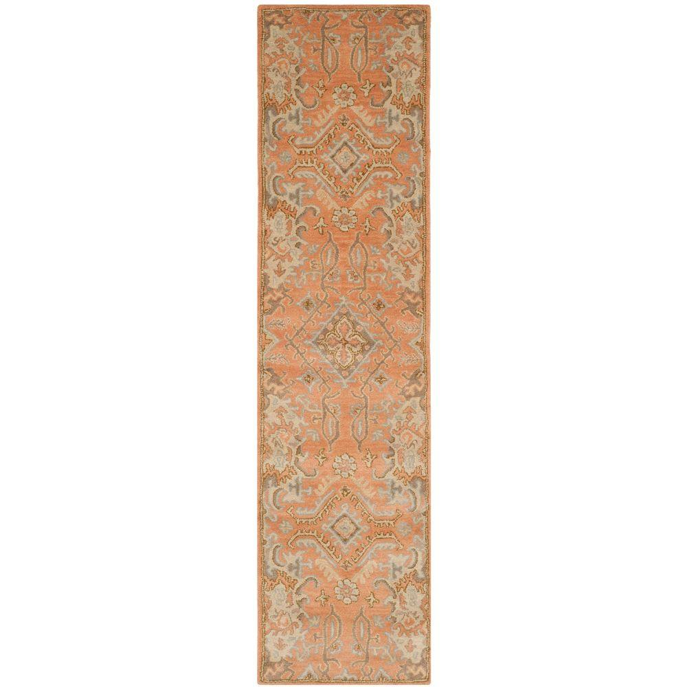 Safavieh Wyndham Terracotta 2 Ft X 7 Runner Rug Wyd203a 27 The Home Depot