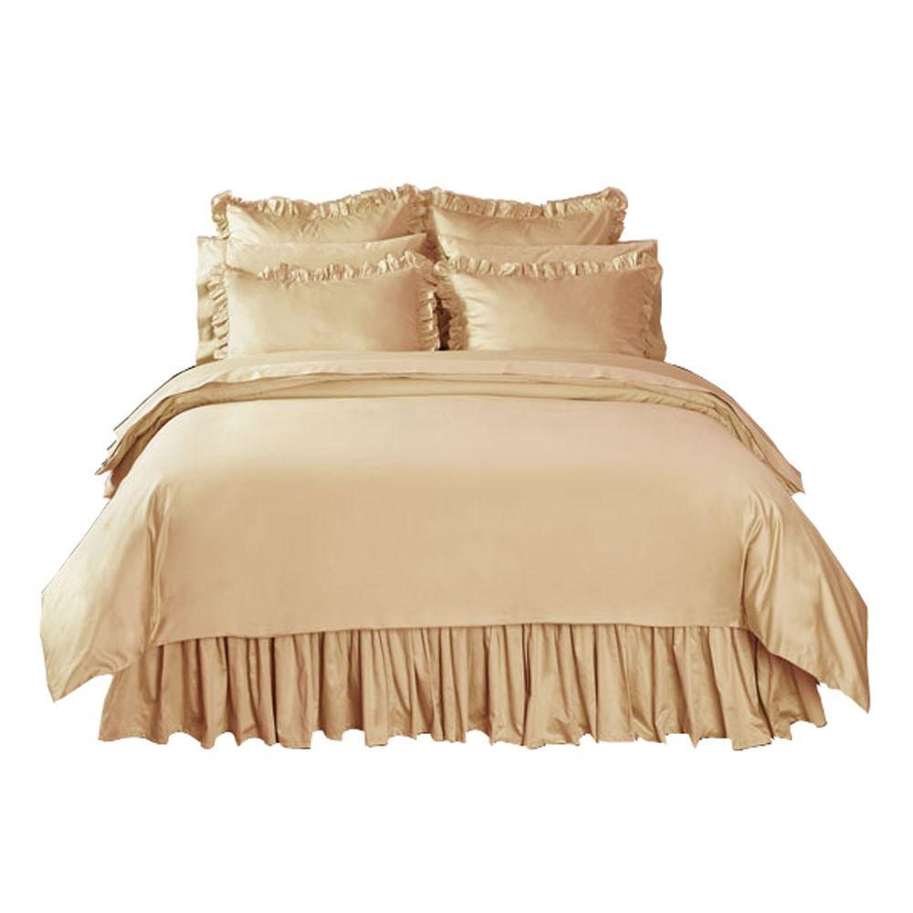 Home Decorators Collection Solid Craft Brown Twin Duvet