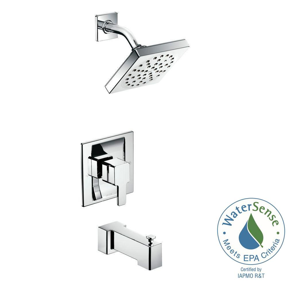 90-Degree Posi-Temp Single-Handle 1-Spray Tub and Shower Faucet Trim Kit in