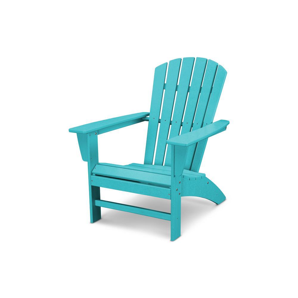 Grant ParkTraditional Curveback Aruba Plastic Outdoor Patio Adirondack Chair