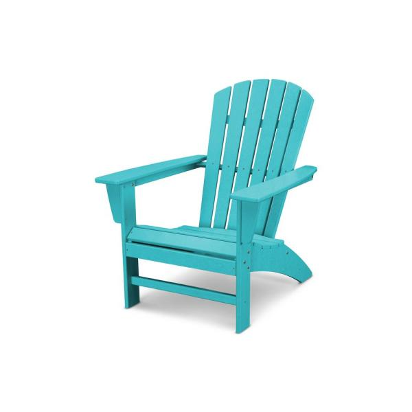 Grant Park Traditional Curveback Aruba Plastic Outdoor Patio Adirondack Chair