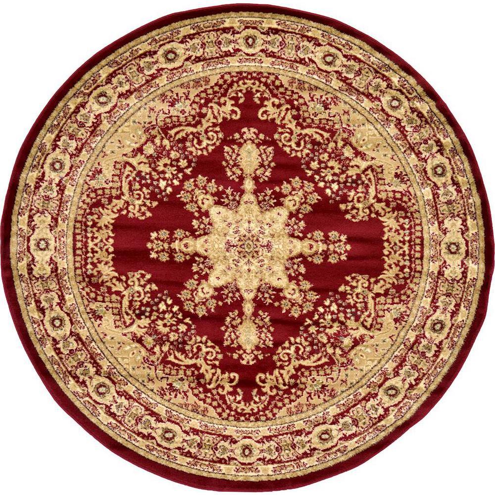 Versailles Louis Red 6' 0 x 6' 0 Round Rug