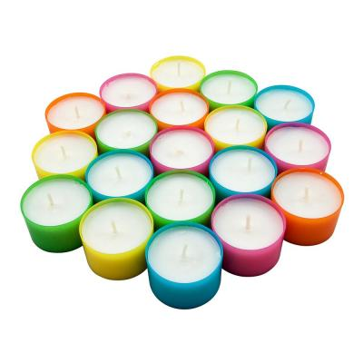 Multicolor Tea Light Candles - 6 to 7 Hour Extended Burn Time (96-Pack)