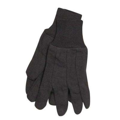 SuperTuff Brown Jersey Knit Gloves