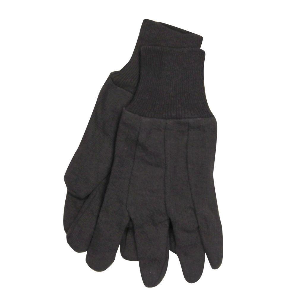 SuperTuff Brown Jersey Knit Gloves