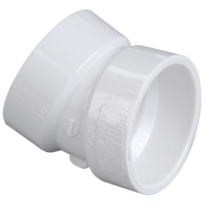2 in. PVC DWV 22-1/2-Degree Hub x Hub Elbow Fitting