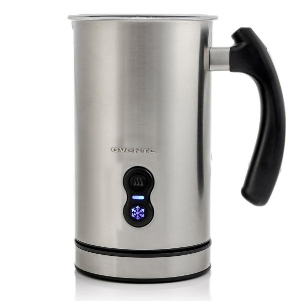 8 oz. Silver Automatic Electric Milk Frother and Steamer Hot or Cold Froth Functionality Foam Maker and Warmer
