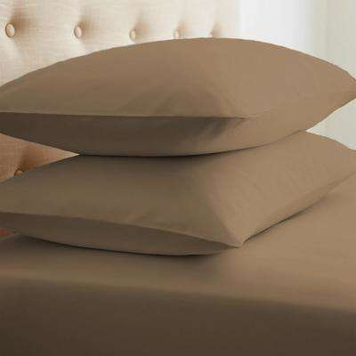 Performance Taupe Standard 2-Piece Pillow Case Set