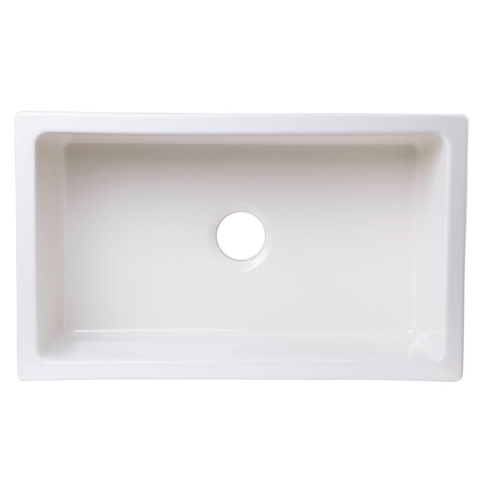 Best Undermount Fireclay Kitchen Sinks: ALFI BRAND Undermount Fireclay 30 In. Single Basin Kitchen