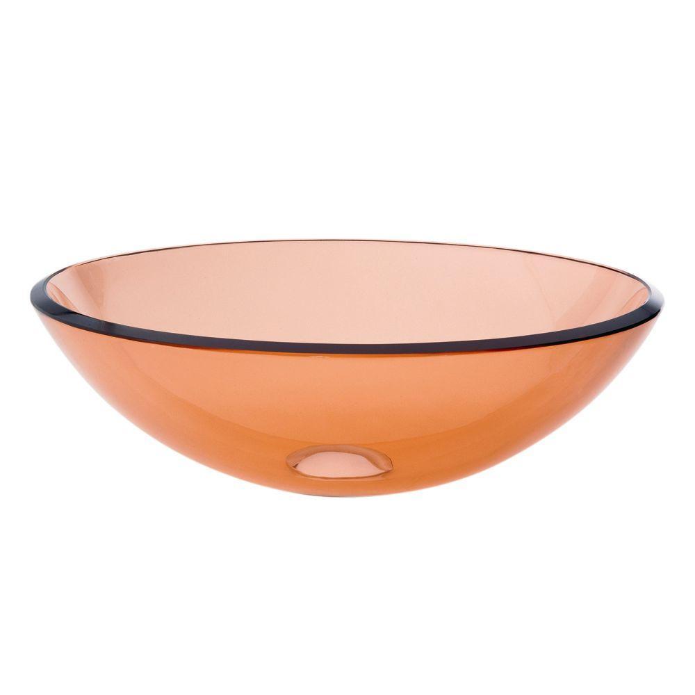 Translucence Vessel Sink in Transparent Amber