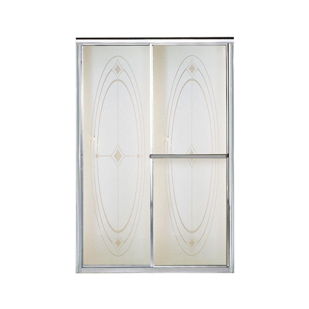 Deluxe 48-7/8 in. x 70 in. Framed Sliding Shower Door in