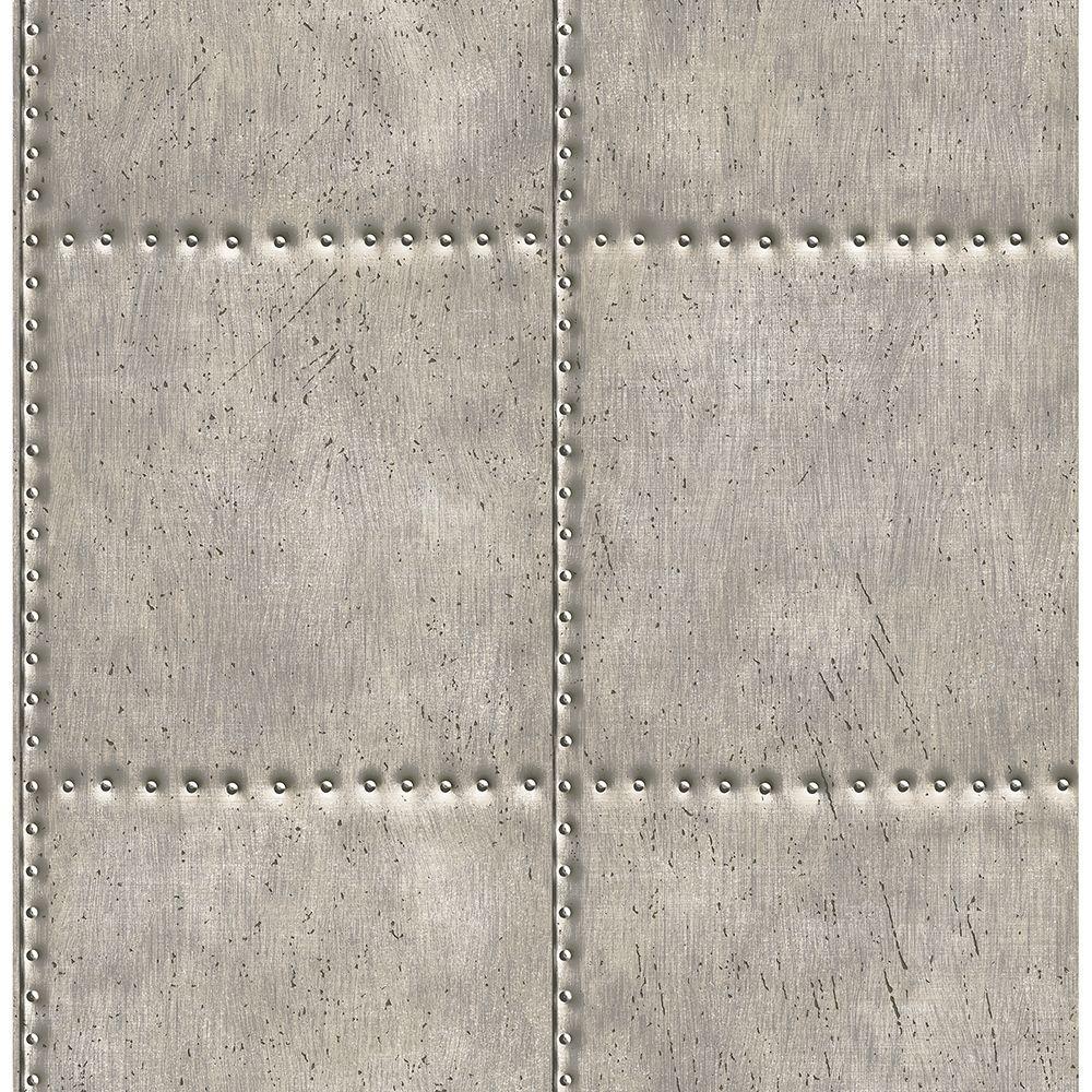 56.4  sq. ft. Hale Pewter Sheet Metal Wallpaper
