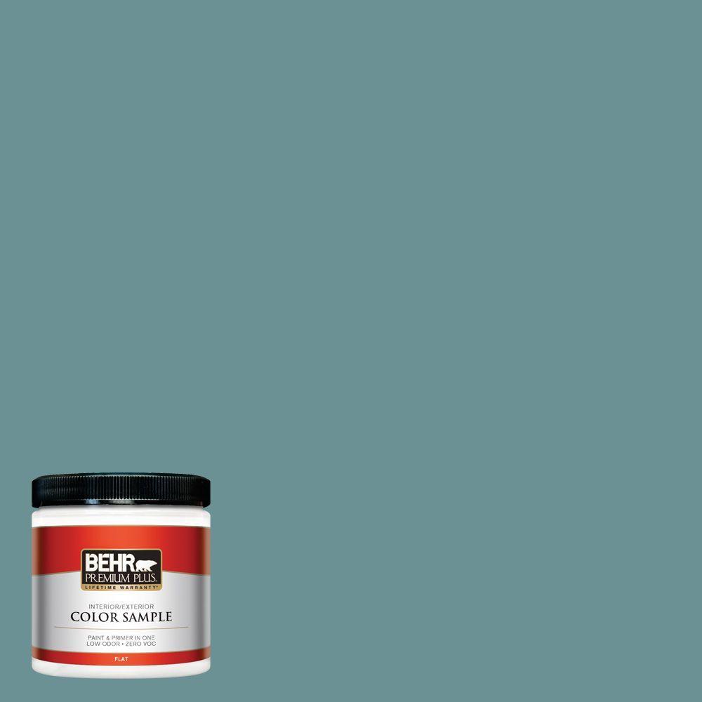 8 oz. #T15-16 Blue Clay Zero VOC Interior/Exterior Paint Sample
