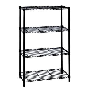 Black 4-Tier Metal Wire Shelving Unit (36 in. W x 54 in. H x 14 in. D)