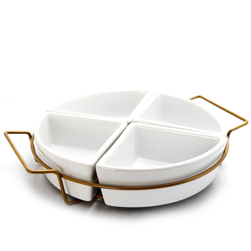 Gracious Dining 4-Section Tidbit Dish Set