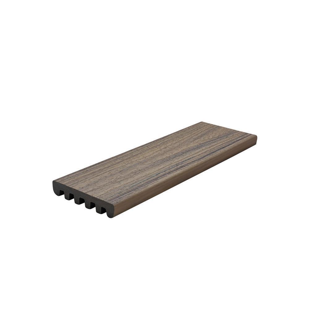 Enhance Naturals 1 in. x 5.5 in. x 8 ft. Composite Coastal Bluff Square Edge Capped Decking Board - (3 Per Box)