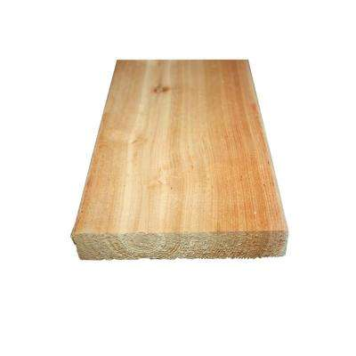 5/4 in. x 6 in. x 16 ft. Premium Radius Edge Cedar Decking Board