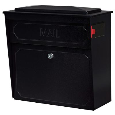 Townhouse Locking Wall-Mount Mailbox with High Security Patented Lock, Black